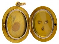 Victorian 18ct Gold, Diamond & Enamel Locket