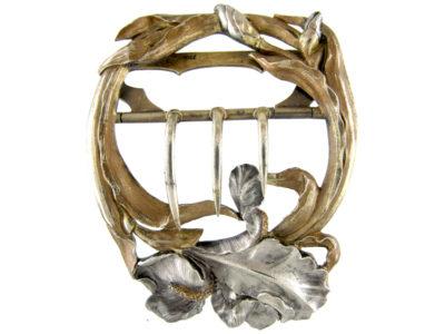 Silver Art Nouveau Buckle