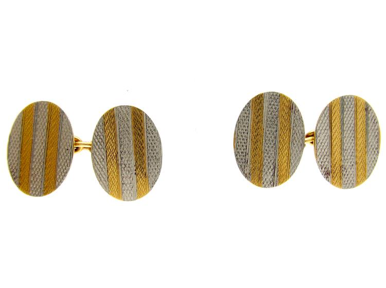 Platinum & Gold Cufflinks