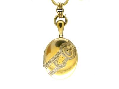Silver Gilt Victorian Locket on Chain