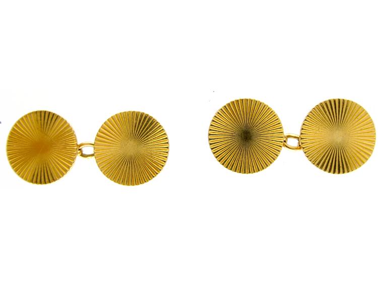 18ct Gold Round Cufflinks