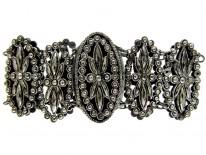 Georgian Cut Steel Oval Plaque Bracelet