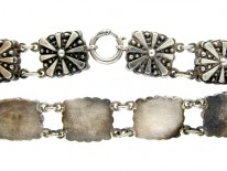 Silver Collar with Square Sections