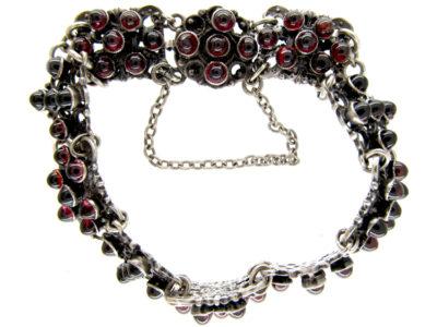 Austro- Hungarian Silver & Garnet Bracelet