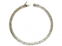 Silver Key Design Collar