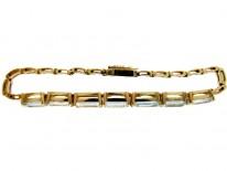Aquamarine 14ct Gold Bracelet