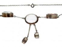 Rock Crystal Double Drop Necklace