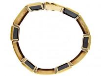 Onyx & 14ct Gold Art Deco Bracelet