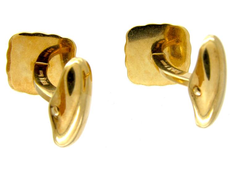 Kutchinsky Ruby 18ct Gold Cufflinks