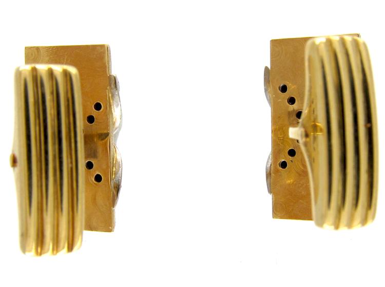 18ct Gold & Diamond Crossover Cufflinks