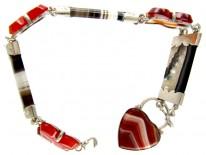 Scottish Silver & Agate Victorian Bracelet