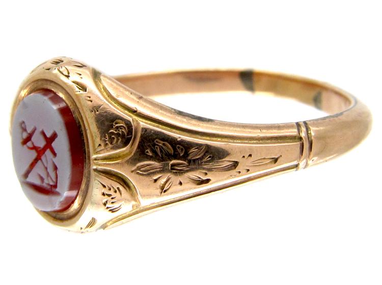 Faith & Hope Victorian Signet Ring