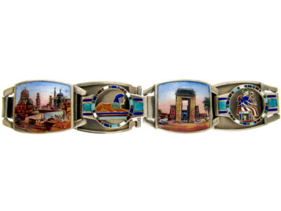 Egyptian Revival Enamel Bracelet