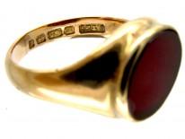 Carnelian & Gold Signet Ring