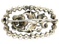 Silver & Paste Edwardian Rose Brooch
