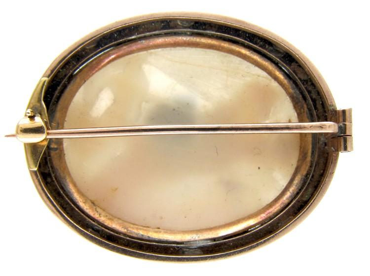 Shell Cameo Georgian Brooch