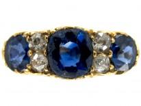 Victorian Sapphire & Diamond Engagement Ring