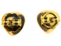 Pearl Heart 18ct Gold Edwardian Earrings