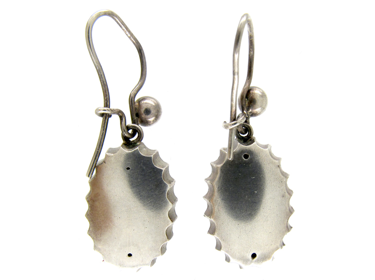 Silver & Gold Overlay Victorian Earrings
