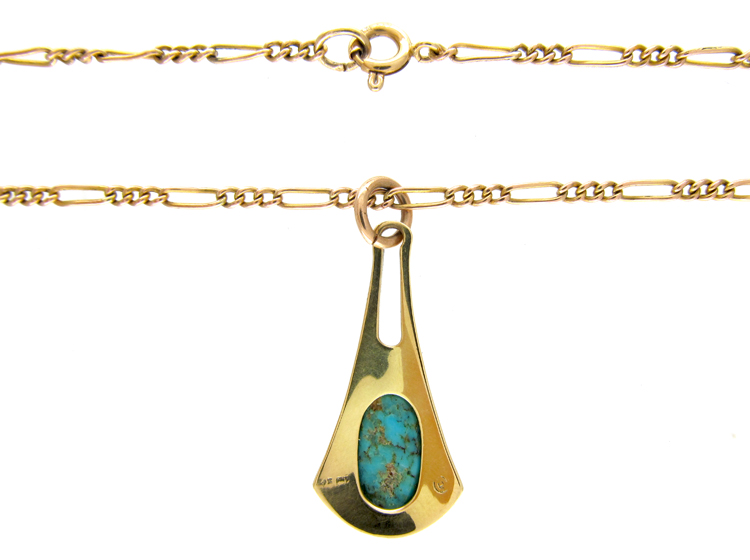 Murrle Bennett Gold & Turquoise Necklace