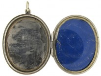 Large Oval Silver Victorian Locket