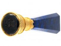 18ct Gold & Lapis Lazuli Castellated Seal