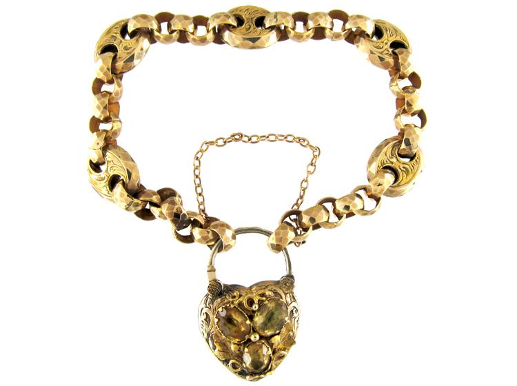 Gold Padlock Bracelet