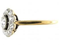 Diamond Edwardian Daisy Cluster Ring