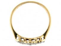 Edwardian Triple Diamond Cluster Ring
