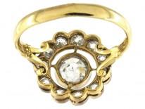 Diamond Edwardian Open Cluster Ring