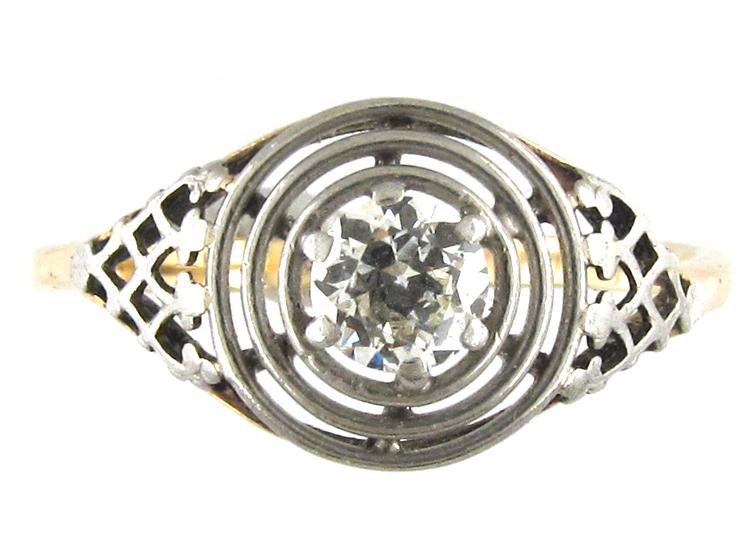 Platinum & Diamond Single Stone Ring