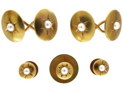 Victorian Cufflinks & Studs Set in Case