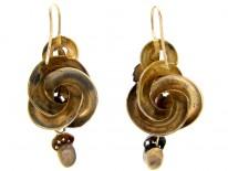 Victorian Gold & Aquamarine Drop Earrings