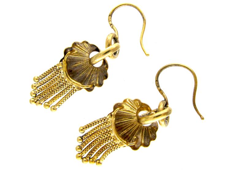 Victorian 18ct Gold Fringe Earrings