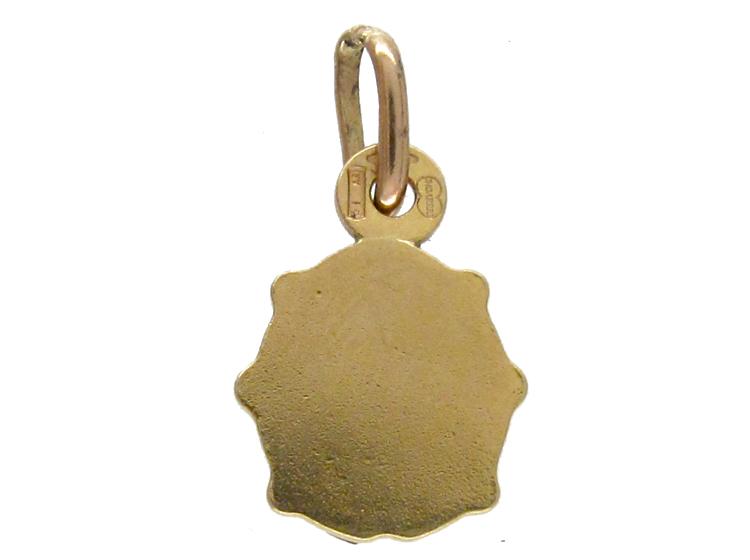 Enamelled Gold Ladybird Charm