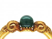 Gold Rams' Heads Bangle by Otto Klein