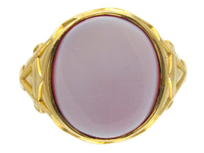 Masonic 18ct Gold Victorian Signet Ring - The Antique Jewellery Company