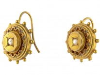 Victorian 15ct Gold & Pearl Earrings