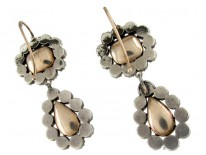 Georgian Foiled Paste Earrings