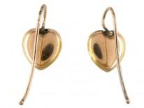 Gold & Diamond Heart Shape Earrings
