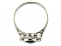 Sapphire & Diamond Art Deco Ring