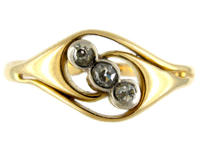Art Nouveau Diamond Ring