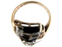 Gold Masonic Gemstone Ring