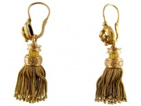 French 19th Century 18ct Gold Tassle Earrings