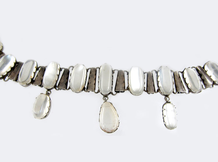 Silver & Moonstone Collar