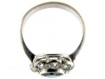 Diamond & Sapphire Edwardian Cluster Ring