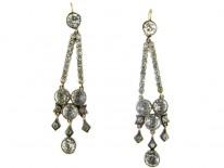 Edwardian Silver Paste Drop Earrings