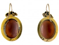 Victorian 15ct Gold Cameo Earrings