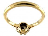 Edwardian Platinum & 18ct Gold Diamond Cluster Ring