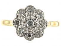 Diamond Round Cluster Ring